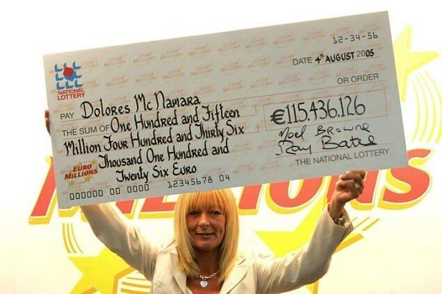 Gagnant EuroMillions en Irlande du vendredi 29 juillet 2005