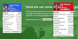 Une application pour identifier les soutiens financiers des politiciens américains