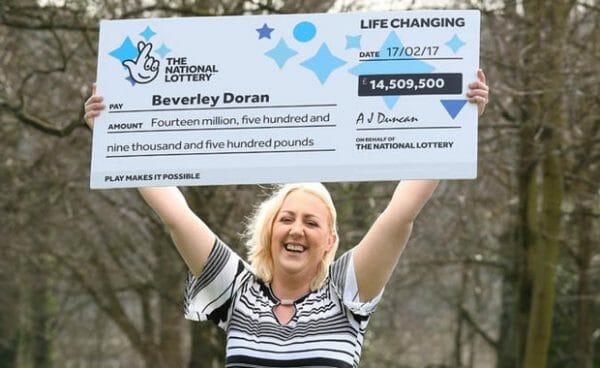 Beverley Doran, gagnante de l'Euromillions
